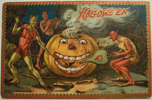 Image result for halloween vintage postcards